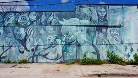 Graffiti uliczna sztuka w Wynwood sąsiedztwie Miami obrazy royalty free