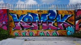 Graffiti uliczna sztuka w Wynwood sąsiedztwie Miami obraz royalty free