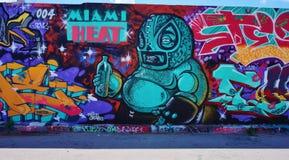 Graffiti uliczna sztuka w Wynwood sąsiedztwie Miami obrazy stock