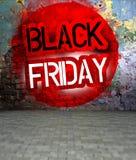 Graffiti ummauern mit schwarzem Freitag, städtische Kunst Lizenzfreie Stockfotografie