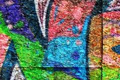 Graffiti ummauern städtischen Hintergrund Lizenzfreie Stockfotografie