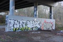 Graffiti under a Bridge Royalty Free Stock Photography