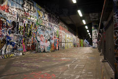 Graffiti underground Stock Images