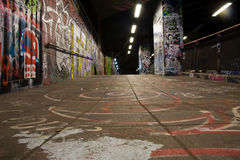 Graffiti underground Stock Photo