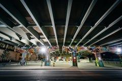 Graffiti on an underpass in Corktown, Toronto, Ontario. Stock Image