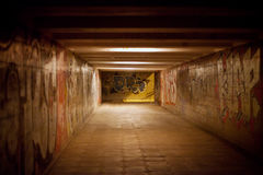 Graffiti in underpass. At the evening Royalty Free Stock Photography