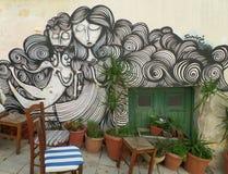 Graffiti, Uniek Art On The Walls Of Athene Stock Foto