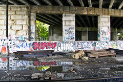 Graffiti-Unterführung Stockbilder