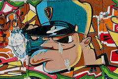 GRAFFITI URBAIN Images stock