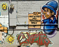 Graffiti urbain Images libres de droits