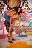 Graffiti urbain d'adolescents Image libre de droits