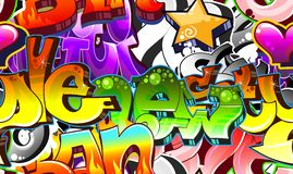 Graffiti Urban Art Background royalty free illustration