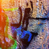 Graffiti in the urban Stock Images