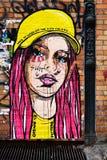 Graffiti urbani a Berlino dal EL Bocho Immagini Stock Libere da Diritti