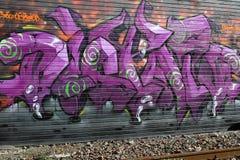 Graffiti urbani della parete fotografia stock libera da diritti