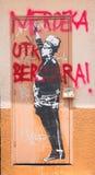 Graffiti urbani in Malesia Immagine Stock Libera da Diritti