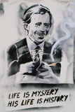 Graffiti of Vaclav Havel in Prague Stock Photography