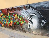 Graffiti in Valparaiso Stock Afbeelding