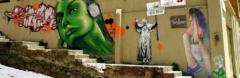 Graffiti, Valparaiso, Chili Photographie stock