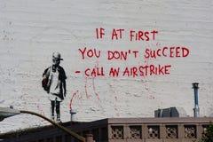 Graffiti van Banksy stock foto