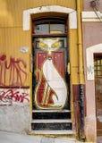 Graffiti van de kat Stock Afbeeldingen