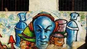Graffiti van de muur Stock Fotografie