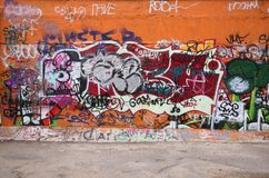 Graffiti van de stad Stock Foto's