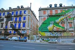 Graffiti van Lissabon Royalty-vrije Stock Afbeeldingen