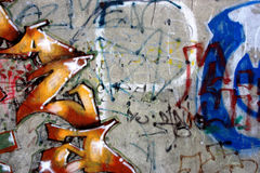 Graffiti vandalism royalty free stock photo