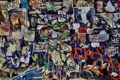 Graffiti variopinti della via Immagini Stock Libere da Diritti