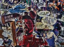 Graffiti variopinti della via Fotografia Stock Libera da Diritti
