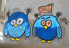 Graffiti variopinti a Mosca Immagine Stock