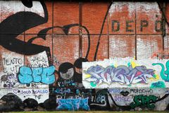 Graffiti variopinti, Rosario, Argentina Immagini Stock Libere da Diritti