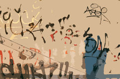 Graffiti in vector Royalty Free Stock Image