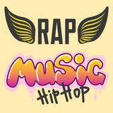 Graffiti vector hip-hop music text art urban design element street style abstract symbol graphic illustration. Graffiti vector hip-hop music text art urban Stock Image