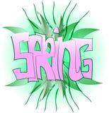 Graffiti verdi della primavera illustrazione di stock