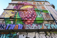 Street art by Os Gemeos in Lisbon Stock Photography