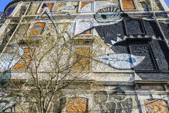 Graffiti wall in Lisbon, Portugal Royalty Free Stock Photo