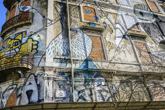 Graffiti wall in Lisbon, Portugal Royalty Free Stock Images