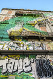 Graffiti wall in Lisbon, Portugal Royalty Free Stock Image