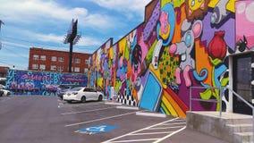 Graffiti vibranti Immagini Stock Libere da Diritti