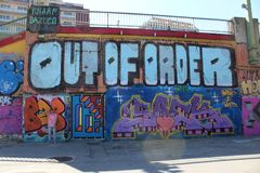 Graffiti ? Vienne image libre de droits