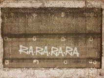 Graffiti vier abstrakte Silben von Ra-Ra-Ra-Ra Stockbilder