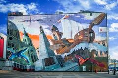 Graffiti von Å- odz lizenzfreies stockfoto