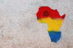 Graffiti von Afrika Lizenzfreie Stockbilder
