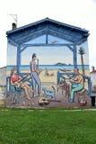Graffiti w Angouleme mieście, kapitał komiks Obrazy Royalty Free