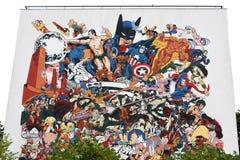 Graffiti w Angouleme mieście, kapitał komiks Fotografia Royalty Free