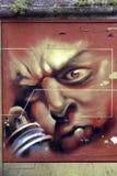 Graffiti w Angouleme mieście, kapitał komiks Zdjęcia Royalty Free