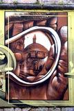 Graffiti w Angouleme mieście, kapitał komiks Zdjęcie Royalty Free