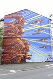 Graffiti w Angouleme mieście, kapitał komiks Obraz Royalty Free
